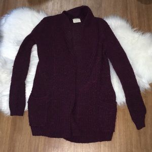 URBAN OUTFITTERS OPEN FACE CARDIGAN